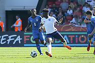 Bukayo Saka of England (17) during the UEFA European Under 17 Championship 2018 match between England and Italy at the Banks's Stadium, Walsall, England on 7 May 2018. Picture by Mick Haynes.