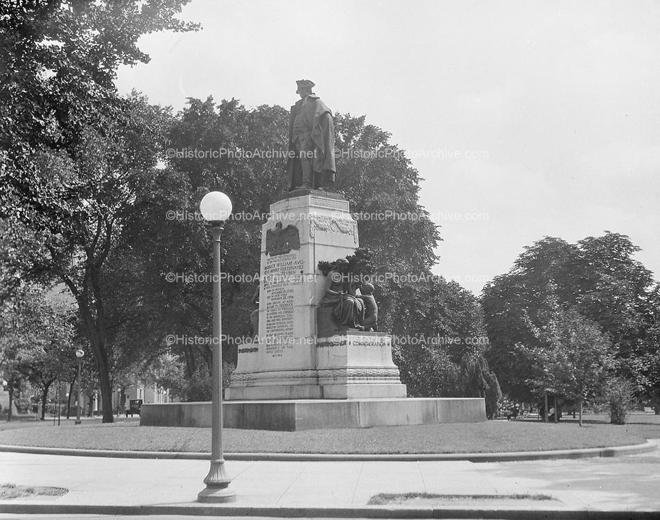 0613-B050Baron Von Steuben statue, Lafayette Park, 16th & H st. NW. Washington, DC, 1922