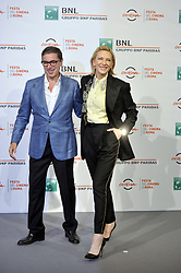 Antonio Monda, Cate Blanchett attends The House with a Clock in its Walls photocall at the Rome Film Fest 2018, Italy on October 19 2018.