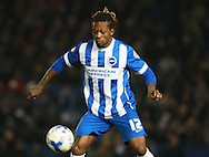 Brighton defender full back Gaetan Bong during the Sky Bet Championship match between Brighton and Hove Albion and Reading at the American Express Community Stadium, Brighton and Hove, England on 15 March 2016. Photo by Bennett Dean.