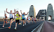 Pictures taken during the 2012 Sydney Running Festival on the Harbour  bridge, Under the Bridge , and on the Cahill expressway .