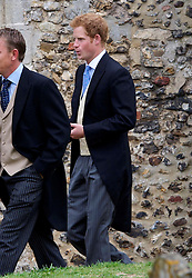 Prince Harry at the wedding of Lady Laura Marsham in Gayton, Norfolk, United Kingdom,  Saturday, 14th September 2013. Picture by Nils Jorgensen / i-Images