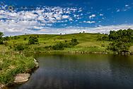 Wetlands pond at Fort Ransom WMA near Fort Ransom, North Dakota, USA