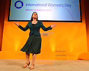 © Licensed to London News Pictures. 08/03/2013. Brighton, UK. Jo Swinson Woman's and Equalities Minister talks to delegates on International Women's Day at the Party Rally Liberal Democrat Spring Conference in Brighton today 8th March 2013. Photo credit : Stephen Simpson/LNP
