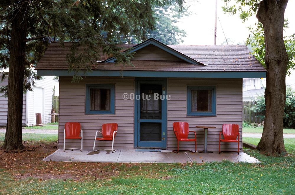 exterior of lake cabin