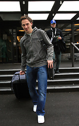 Boris Pretnar at Slovenian National team packing and going from Citadel Hotel to the Halifax airport, when they finished with games at IIHF WC 2008 in Halifax, on May 11, 2008, Canada. (Photo by Vid Ponikvar / Sportal Images)