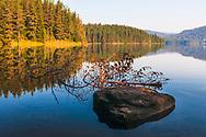 Calm mountain lake at morning