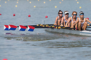 Plovdiv BULGARIA. 2017 FISA. Rowing World U23 Championships. <br /> USA BLW4X. at the start of their heat.  Bow. CRUSE, Anna, KARR-WARNER, Makayla, HOPKINS, Emma and HAGERMAN, Janice<br /> Wednesday. PM,  Heats 16:25:21  Wednesday  19.07.17   <br /> <br /> [Mandatory Credit. Peter SPURRIER/Intersport Images].