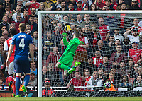 Football - 2016 / 2017 Premier League - Arsenal vs. Manchester United<br /> <br /> David De Gea of Manchester United with a despairing dive as the shot from GranitXhaka of Arsenal loops over his head at The Emirates.<br /> <br /> COLORSPORT/DANIEL BEARHAM