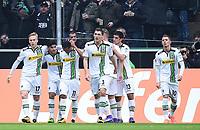 Fotball<br /> Tyskland<br /> 20.02.2016<br /> Foto: Witters/Digitalsport<br /> NORWAY ONLY<br /> <br /> 1:0 Jubel v.l. Oscar Wendt, Torschuetze Mahmoud Dahoud, Raffael, Andreas Christensen (Gladbach)<br /> <br /> Hamburg, 20.02.2016, Fussball Bundesliga, Borussia Mönchengladbach - 1. FC Köln