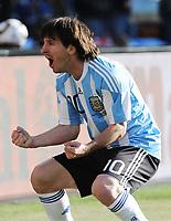 Lionel Messi (Argentina) <br /> Argentina Corea del Sud 4-1 - Argentina vs South Korea 4-1<br /> Campionati del Mondo di Calcio Sudafrica 2010 - World Cup South Africa 2010<br /> Soccer Stadium, Johannesburg, 17 / 06 / 2010<br /> © Giorgio Perottino / Insidefoto