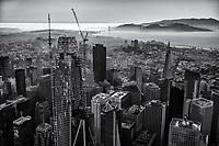 Downtown SF & Golden Gate Bridge (monochrome)