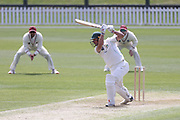Dane Cleaver of CD bats. Canterbury vs. Central Districts Day 1, 1st round of the 2021-2022 Plunket Shield cricket competition at Hagley Oval, Christchurch, on Saturday 23rd October 2021.<br /> © Copyright Photo: Martin Hunter/ www.photosport.nz