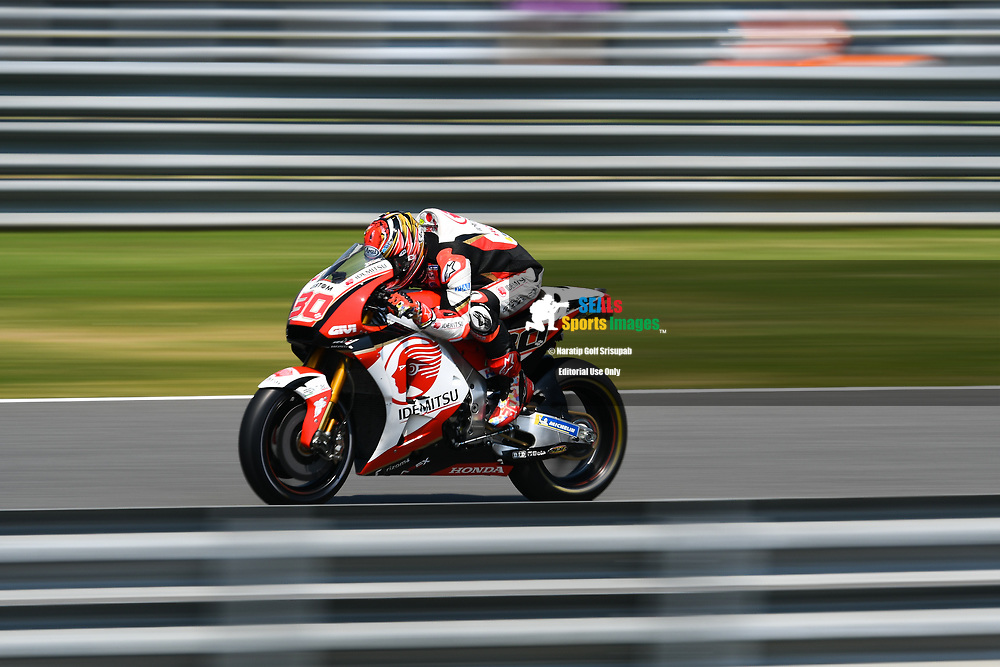 BURIRAM, THAILAND - OCTOBER 06: Takaaki Nakagami (30) of Japan and LCR Honda IDEMITSU on the straightaway to Turn 4 during FP3 at the MotoGP PTT Thailand Grand Prix 2018, Chang International Circuit, Buriram, Thailand on October 06, 2018. <br /> .<br /> .<br /> .<br /> (Photo by: Naratip Golf Srisupab/SEALs Sports Images)<br /> .<br /> Any image use must include a mandatory credit line adjacent to the content which should read: Naratip Golf Srisupab/SEALs Sports Images