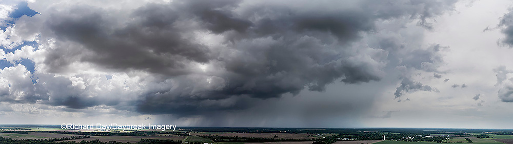 63891-03111 Aerial view of thunderstorm clouds Marion Co. IL