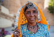 Rajasthani tribal woman (India)