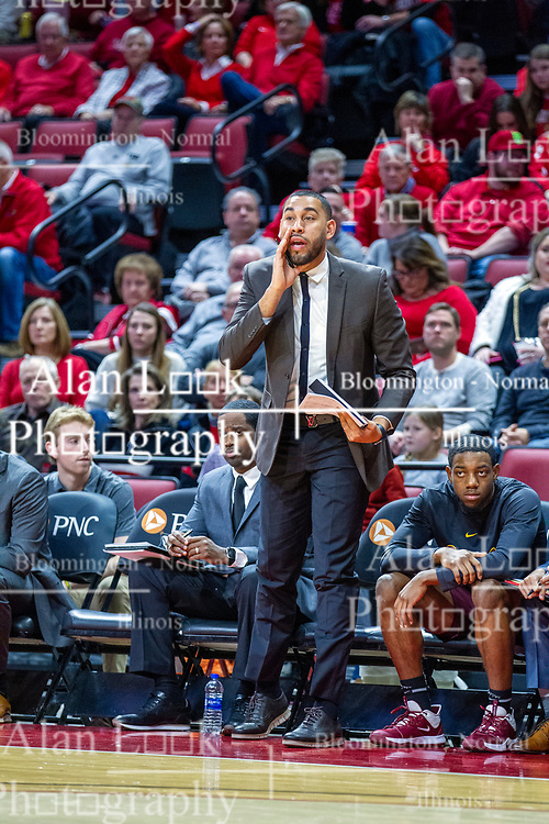 NORMAL, IL - January 19: Drew Valentine during a college basketball game between the ISU Redbirds and the Loyola University Chicago Ramblers on January 19 2020 at Redbird Arena in Normal, IL. (Photo by Alan Look)