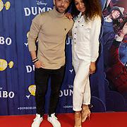 NLD/Amsterdams/20190326 - Filmpremiere Dumbo, Tommie Christiaan en partner Jamie Dors