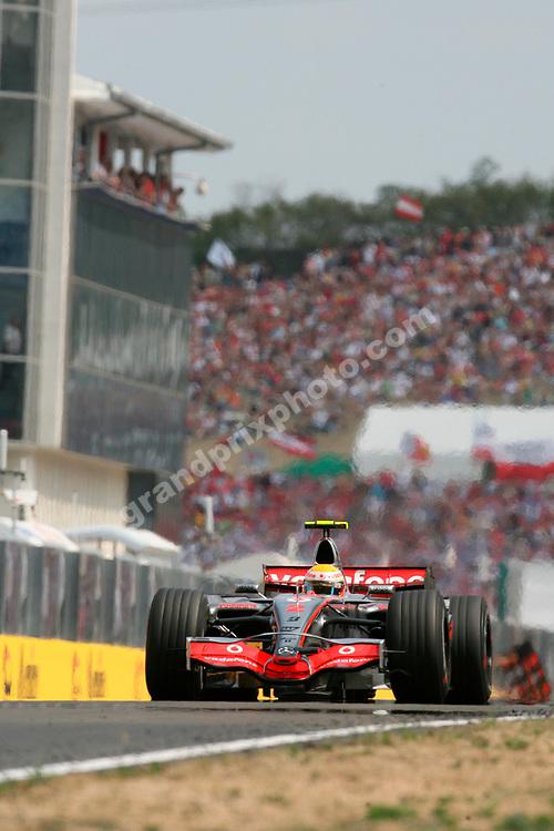 Lewis Hamilton (McLaren-Mercedes) in the 2007 Hungarian Grand Prix at the Hungaroring. Photo: Grand Prix Photo