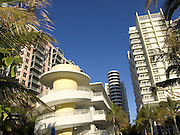 view of new art deco hotels in Miami Beach USA
