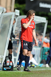 Wycombe Wanderers Manager, Gareth Ainsworth appears to bite his nails as his side go on to lose 1 - 2 - Photo mandatory by-line: Dougie Allward/JMP - Mobile: 07966 386802 26/04/2014 - SPORT - FOOTBALL - High Wycombe - Adams Park - Wycombe Wanderers v Bristol Rovers - Sky Bet League Two