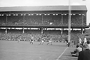 Kerry attempt a goal during the All Ireland Senior Gaelic Football Final Kerry v Down in Croke Park on the 22nd September 1968. Down 2-12 Kerry 1-13.