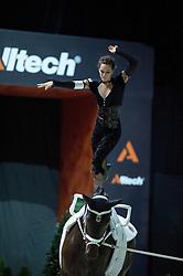 Kristina Boe, (GER), Highlander 82, Winnie Schluter - Individuals Women Freestyle Vaulting - Alltech FEI World Equestrian Games™ 2014 - Normandy, France.<br /> © Hippo Foto Team - Jon Stroud<br /> 03/09/2014