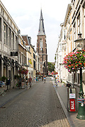 Sint Martinuskerk, Saint Martin church,  historic street in Wyck area, Maastricht, Limburg province, Netherlands