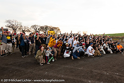 Awards ceremony after the Okie Dokie Vintage Races put on by Go Takamine's Brat Style at West Point Off-Road Village, Kawagoe, Saitama, Japan. Tuesday, December 4, 2018. Photography ©2018 Michael Lichter.