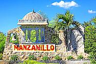 Town entry sign in Manzanillo, Granma, Cuba.