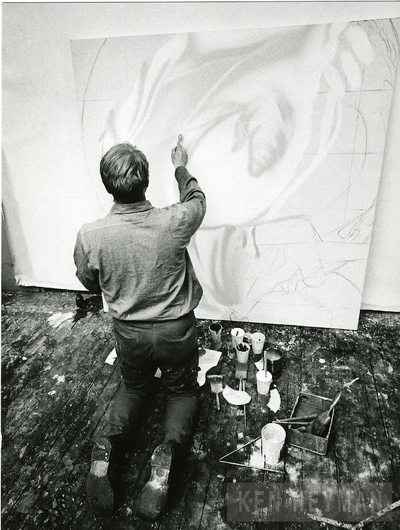 Rosenquist in his studio.