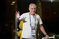 June 25, 2018 - Moscou, Rússia - MOSCOU, MO - 25.06.2018: ARRIVAL OF THE SELECTION IN MOSCOW - The technician Tite arrives at the hotel Renaissence Monarch, where the selection will be hosted in Moscow, Russia. (Credit Image: © Marcelo Machado De Melo/Fotoarena via ZUMA Press)