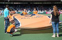 AMSTELVEEN -    Groot shirt OZ.     Beslissende finalewedstrijd om het Nederlands kampioenschap hockey tussen de mannen van Amsterdam en Oranje Zwart (2-3). COPYRIGHT KOEN SUYK