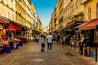 Rue Cler street market, Paris, France.
