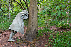 outdoor sculpture Weeping Girls by Laura Ford at Jupiter Artland outside Edinburgh , Scotland , United Kingdom; editorial use only
