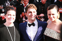 Antoine-Olivier Pilon, Anne Dorval. director Xavier Dolan at the Palme d'Or  Closing Awards Ceremony red carpet at the 67th Cannes Film Festival France. Saturday 24th May 2014 in Cannes Film Festival, France.