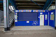 Closed vending stations during the EFL Sky Bet Championship match between Queens Park Rangers and Barnsley at the Kiyan Prince Foundation Stadium, London, England on 20 June 2020.