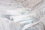 Schmelzwasserbach auf dem Morteratschgletscher, Engadin, Graubünden, Schweiz /<br /> <br />  Meltwater creek on the Morteratsch glacier, Engadine, Grisons, Switzerland