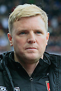 Bournemouth Manager Eddie Howe looks on. <br /> Barclays Premier League match, Aston Villa v AFC Bournemouth at Villa Park in Birmingham, The Midlands on Saturday 09th April 2016.<br /> Pic by Ian Smith, Andrew Orchard Sports Photography.