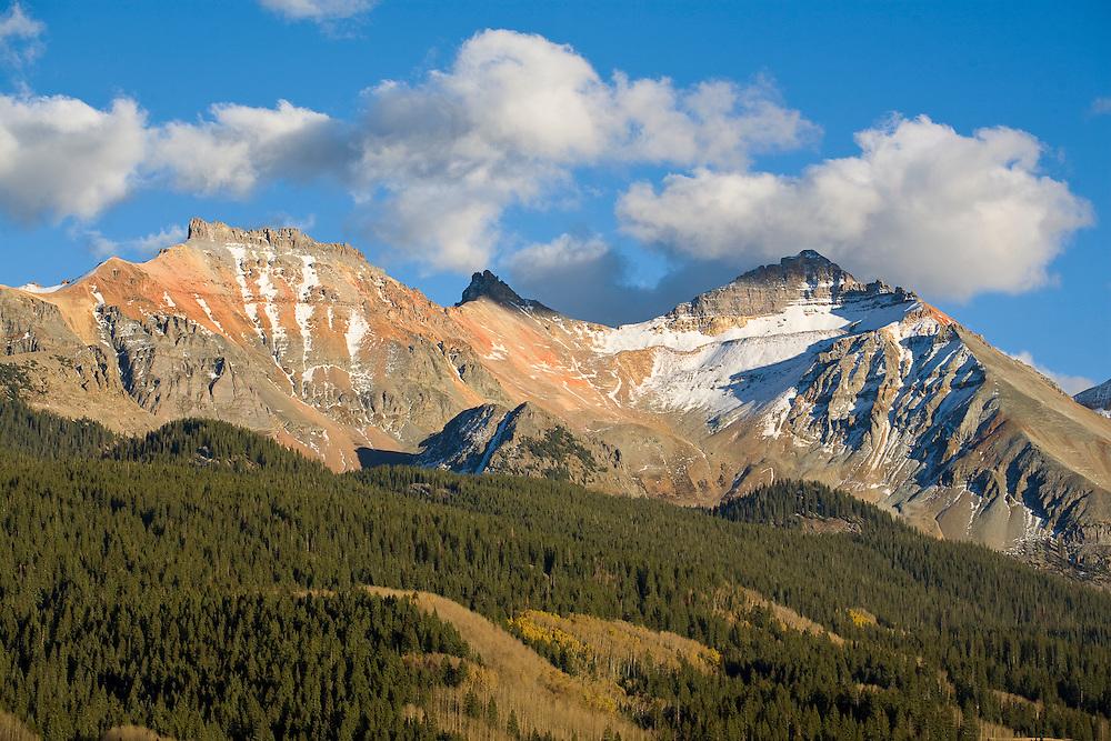 Lizard Head Pass runs through the San Juan Mountains of western Colorado.