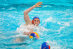 Jorn Muller of the Netherlands in action against Montenegro during the Olympic qualifying tournament. The Dutch water polo players are on the hunt for a starting ticket for the Olympic Games on February 19, 2021 in Rotterdam