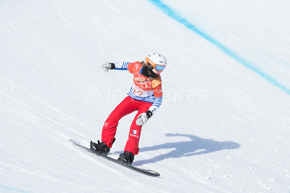 Julia Pereira De Sousa Mabileau of France during the womens boardercross time trials during the Pyeongchang Winter Olympics on 16th February 2018 at Phoenix Snow Park in South Korea
