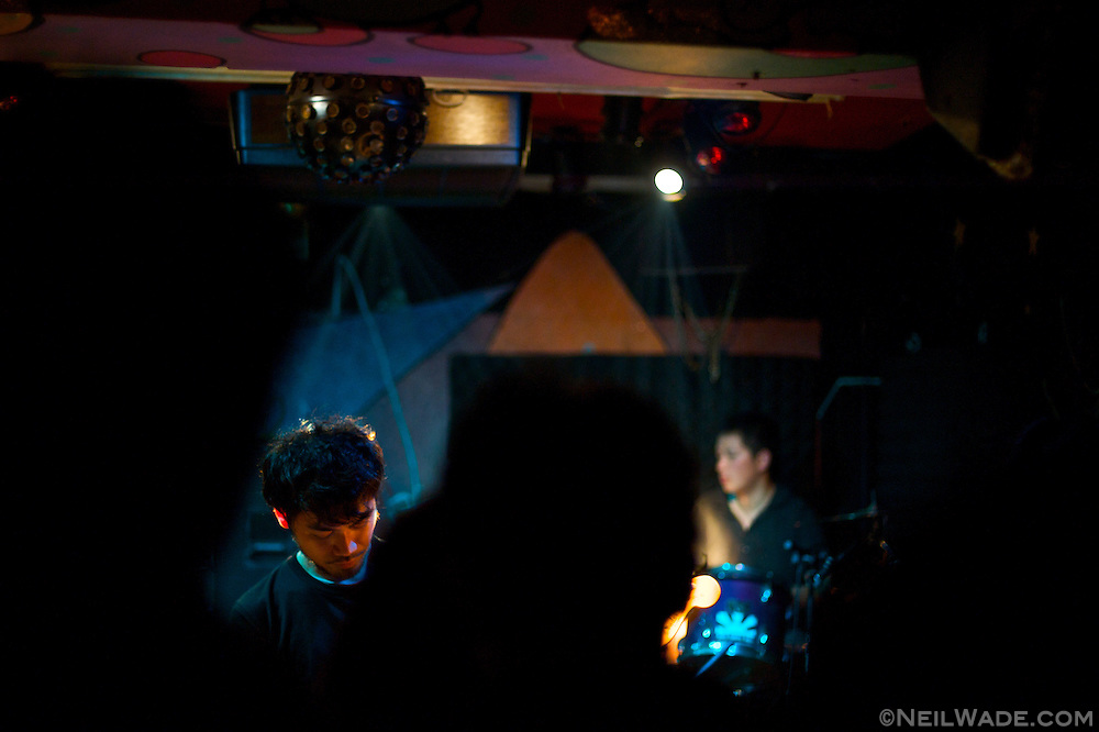 The band Aphasia plays at the Underworld in Taipei, Taiwan.