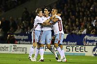 Photo: Pete Lorence.<br />Leicester City v Aston Villa. Carling Cup. 24/10/2006.<br />Villa's Juan Pablo Angel celebrates his goal.