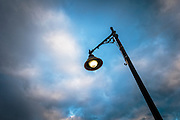 Street Lamp at dusk, Durham, New Hampshire, USA