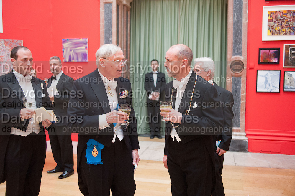 THE DUKE OF GLOUCESTER; PROF CHRISTOPHER LE BRUN, PRESIDENT OF THE ROYAL ACADEMY, Royal Academy of Arts Annual dinner. Piccadilly. London. 29 May 2012.