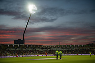 Umpires take to the field during the NatWest T20 Blast final match between Northants Steelbacks and Lancashire Lightning at Edgbaston, Birmingham, United Kingdom on 29 August 2015. Photo by David Vokes.