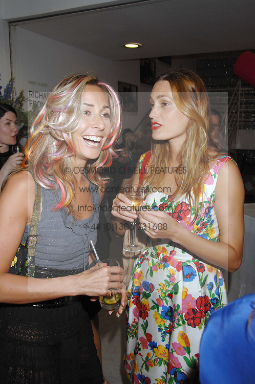 Left to right, TARA ARCHER and YASMIN LE BON at a reception hosted by Vogue magazine to launch photographer Tim Walker's book 'Pictures' sponsored by Nude, held at The Design Museum, Shad Thames, London SE1 on 8th May 2008.<br /><br />NON EXCLUSIVE - WORLD RIGHTS