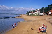 AYBPB9 Bawdsey Quay beach River Deben mouth Suffolk England