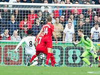 Football — 2016 / 2017 Premier League - Swansea vs Liverpool<br /> <br /> \sg\ scores his team's first goal at the Liberty Stadium.<br /> <br /> pic colorsport/winston bynorth